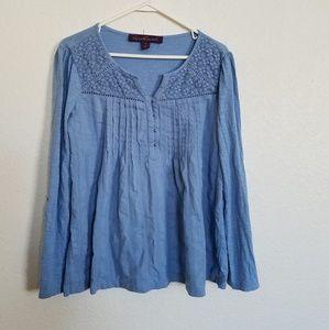 medium gloria Vanderbilt blue top